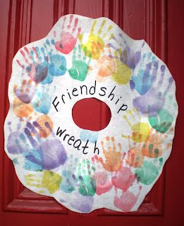 Preschool Playbook: Friendship Day will add kids names on their handprints and school name/year