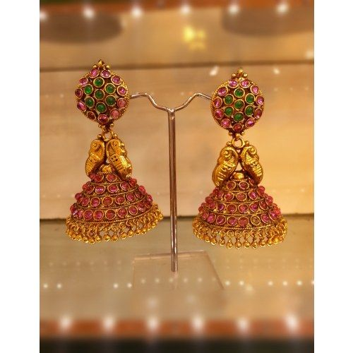 Traditional Temple Jewellery Jhumkas Online Ping For Earrings By Dimple Collections Jewelry Gold Indian