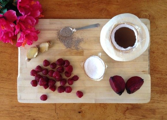 Raspberry-Coconut-Beet Smoothie