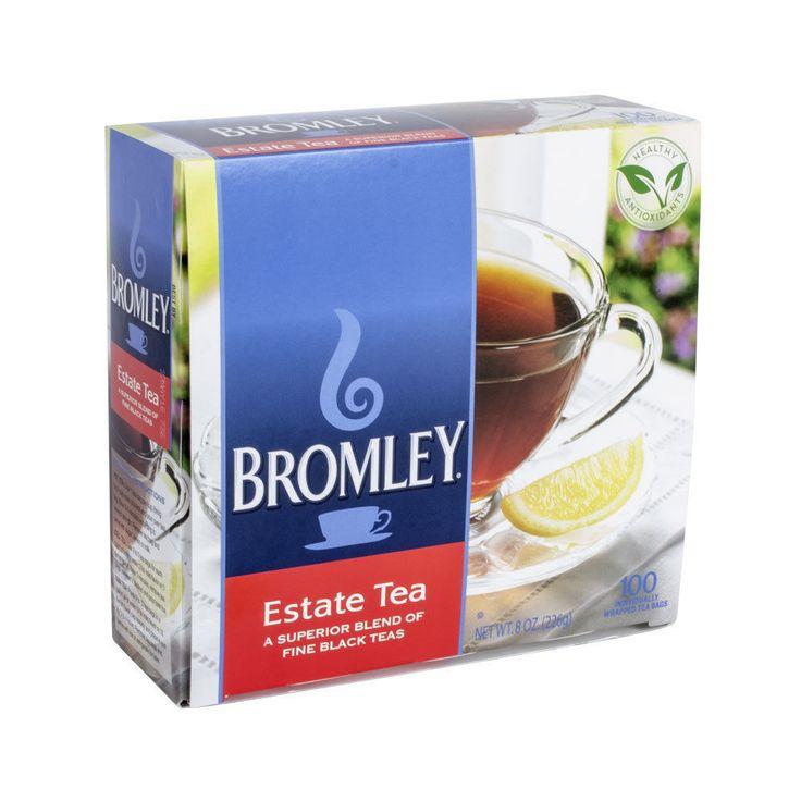 Bromley Estate Tea 100ct Individual Bags Blend of Orange Pekoe & Black Teas Exc! #Bromleys