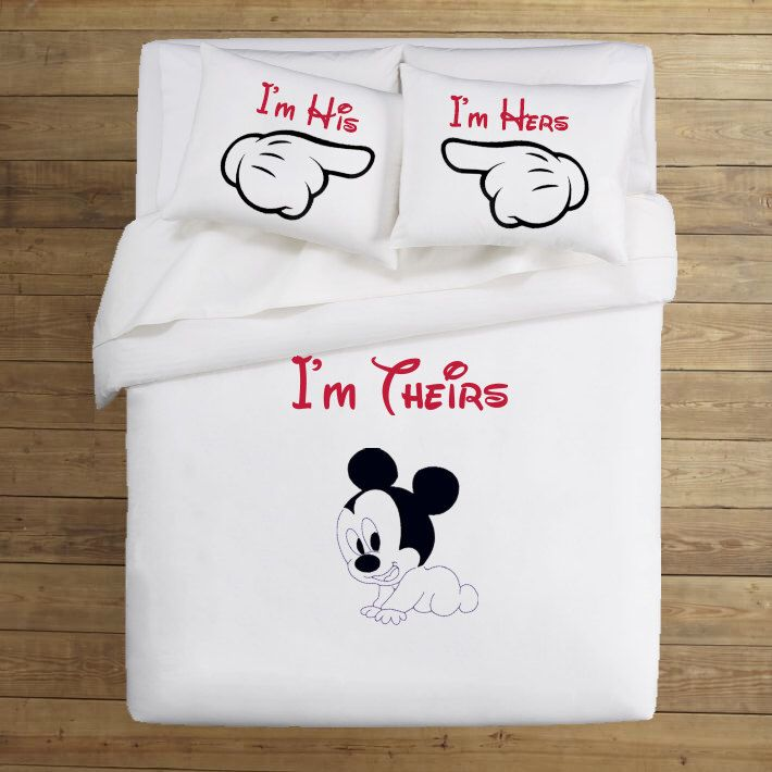 Hand Painted Disney Bedding Set His And Hers Gifts Newborn Baby Gift I