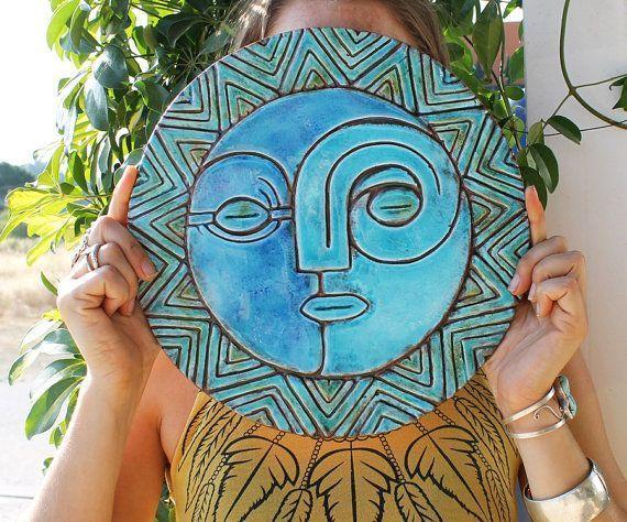 Sun And Moon Wall Decor Wall Art Garden Art Outdoor Decor Extra