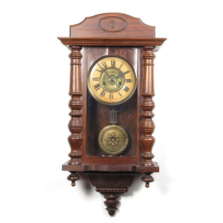 antique wall clock hamburg co pendulum key wind day collectors price guide vintage clocks amazon