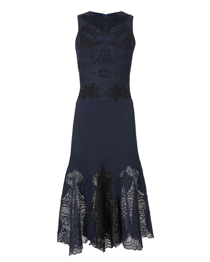 Mesh Window Lace Trumpet Dress