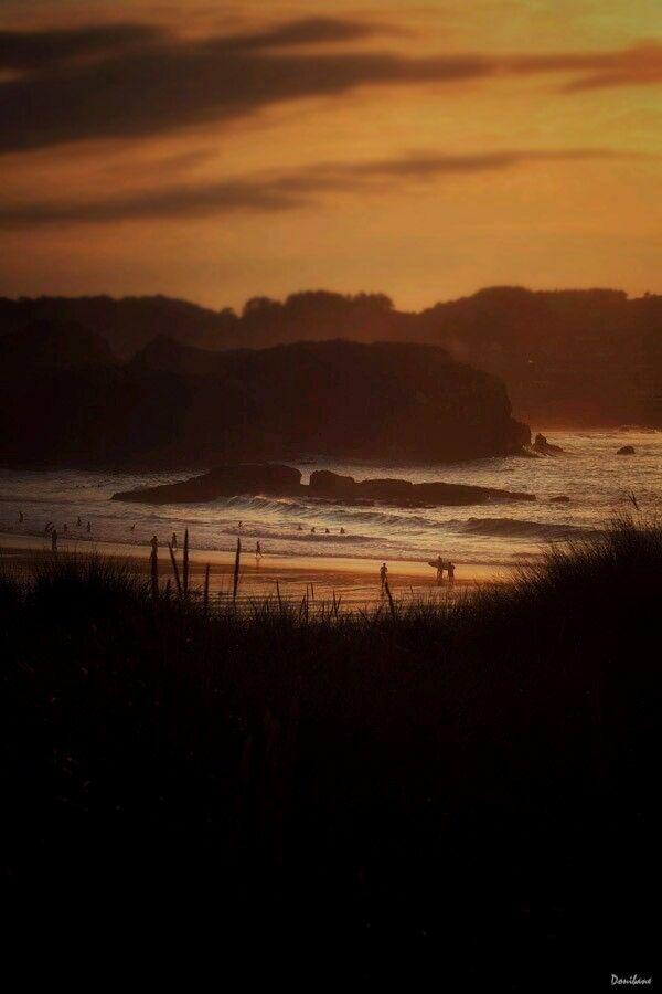 The orange beach by Donibane Noja. Agosto 2015