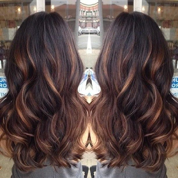 Caramel balayage highlights