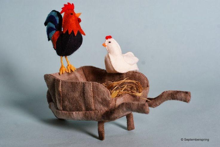 Septemberspring Galerie: Boer wat zeg je van mijn kippen?  Patroonblad van Septemberspring. Oa Verkrijgbaar bij www.nielsholgersson.nl