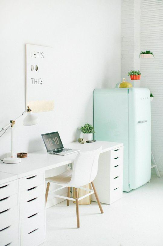 white desk office. the sugar u0026 cloth studio tour mint officeoffice workspaceoffice spaceswork spaceswhite desk white office