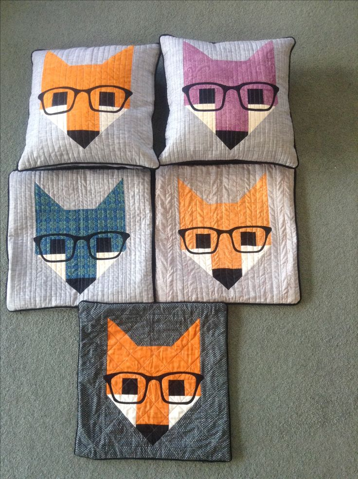 All my fox cushions!