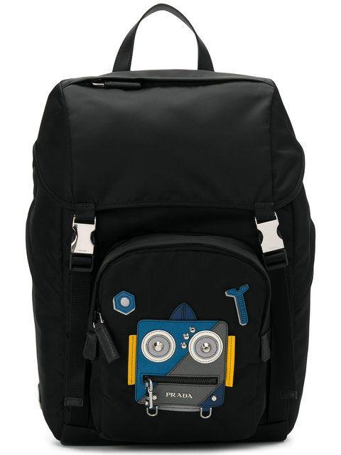 52b601d674 PRADA Prada Robot embellished backpack.  prada  bags  leather  backpacks