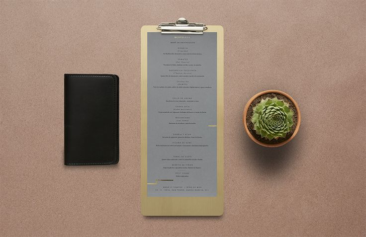 We Love Menus. Montelena. Design by www.anagrama.com