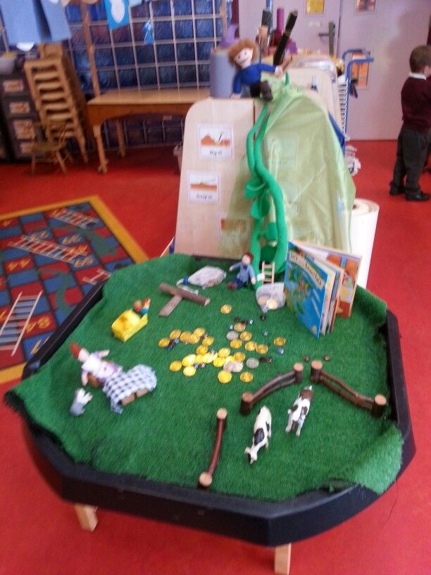 jack and the beanstalk story tray