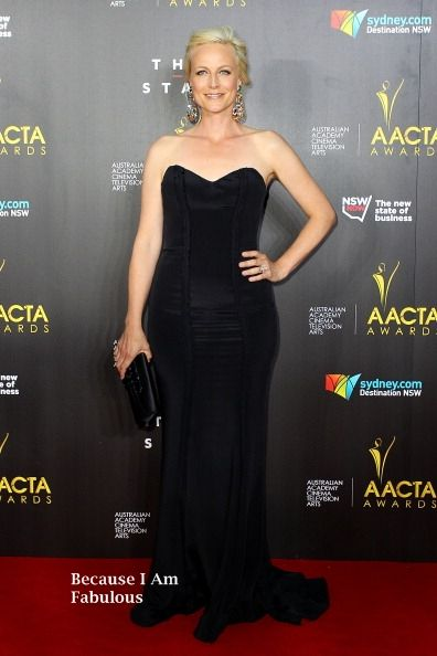 Fabulously Spotted: Marta Dusseldorp Wearing Pallas Couture - 3rd Annual AACTA Awards - http://www.becauseiamfabulous.com/2014/01/marta-dusseldorp-wearing-pallas-couture-3rd-annual-aacta-awards/