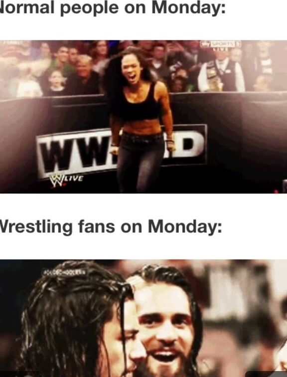 very true.....Monday Night Raw is the only thing that gets me excited about Monday. <3