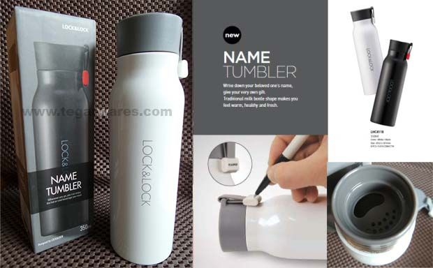 Botol minum stainless Lock n Lock Name Tumbler series, tipe LHC 4118 kapasitas 350ml, color white and black, size: 62 x 201mm. That is not too large capacity suitable for storing milk glass steeping coffee, tea or cocoa either hot or cold. Ideal to be used as a family gathering merchandise company or corporate gathering.