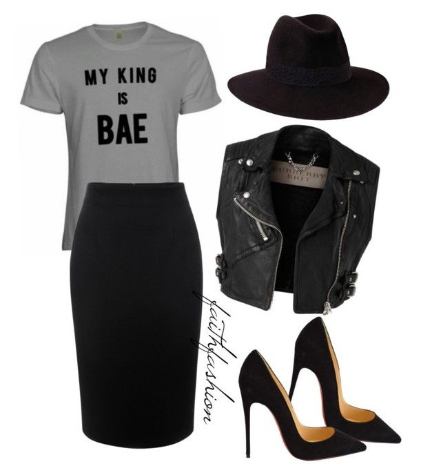 """""""Untitled #124"""" by faithfashionash on Polyvore featuring Burberry, Alexander McQueen, Penmayne of London, Christian Louboutin, women's clothing, women's fashion, women, female, woman and misses"""