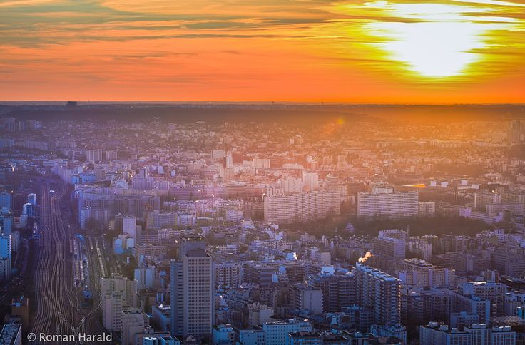 Paris Sunset by Harald Roman on 500px