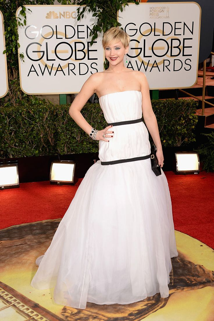 Jennifer Lawrence de Christian Dior - Globos de Oro 2014