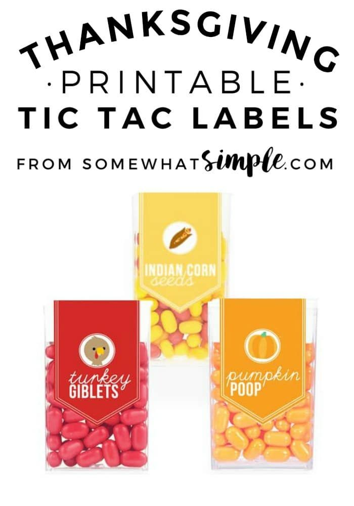Thanksgiving Tic Tac Labels #The Best of Somewhat Simple