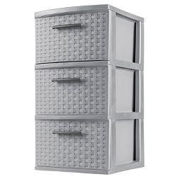 Sterilite 3 Drawer Medium Weave Tower - Gray