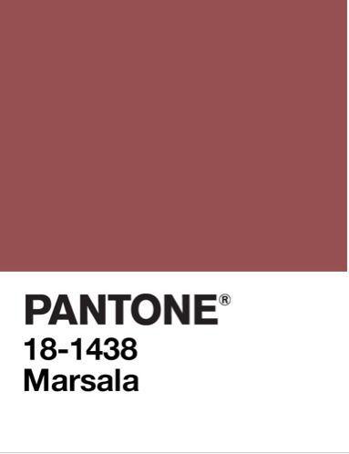 kolor Marsala na próbniku Pantone