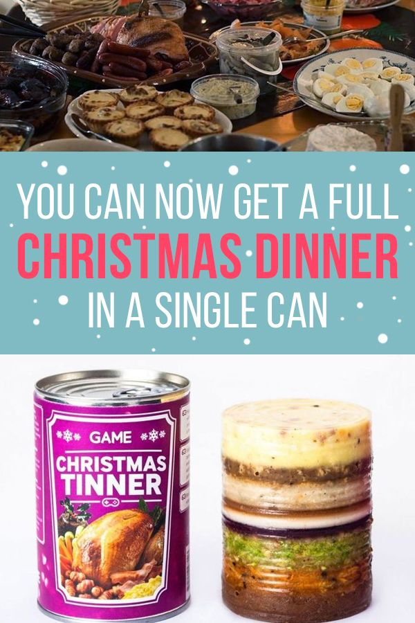 Christmas Dinner In A Tin.You Can Now Get A Full Christmas Dinner In A Can Food