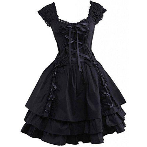 Partiss Damen Cotton Aermellos Klassisches Multilayers Retrostyle Gothische Kuro Lolita Kleid Ballkleid Cospaly Kostueme Partiss http://www.amazon.de/dp/B013WC4RP6/ref=cm_sw_r_pi_dp_pKQZwb15KX8R3