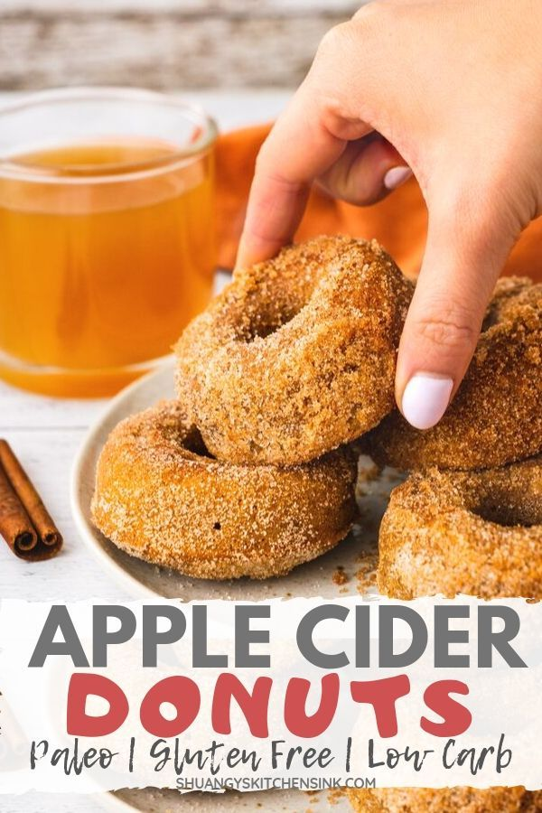 This Healthy Baked Apple Cider Donut is Packed with all the fall spices, the perfect dessert recipe this fall. It is glu…