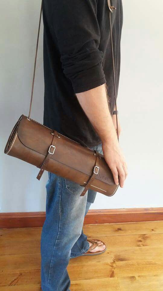 Chefs knife roll #handstitchedleather