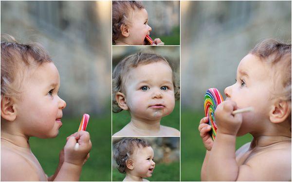 One year old photos - lollipop