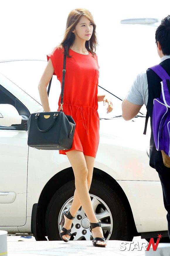 love her red dress