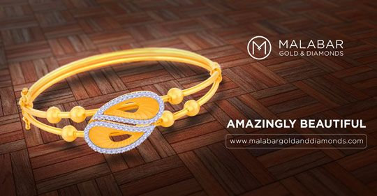 Embellish your wrist with the amazing design which makes this bangle more beautiful Price: INR 56,368 COD option available with free delivery in India.
