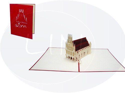 Pop up Karte, Rathaus Münster