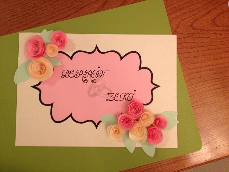 Diy paper flower craft. #weddingdecoration