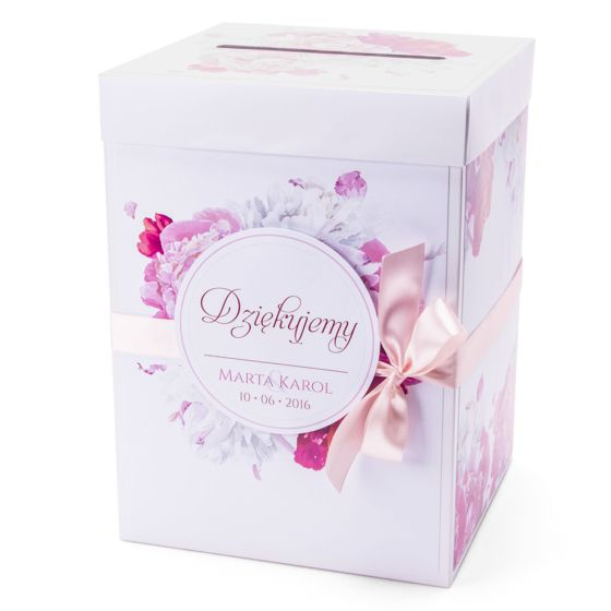 Pudełko na koperty zkwiatemPeonii – artMA