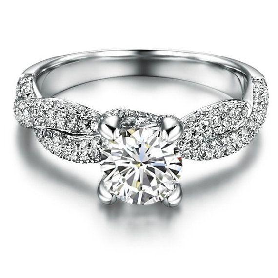 MADE TO ORDER Sterling Silver Twist 1ct Diamond by LenaMayJewelley