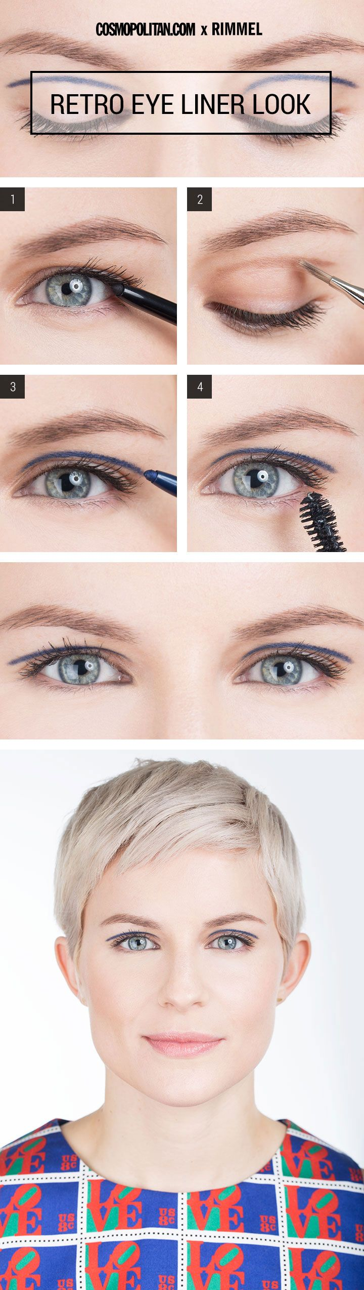 RETRO EYELINER MAKEUP TUTORIAL: Sixties icon Edie Sedgwick would totally be jealous of this super mod eye. Get this exact look with the help of this tutorial below and tips from makeup artist Sara Biria. Click through for the easy eye makeup and eyeliner tutorial that's perfect if you want a beauty look with a little edge.
