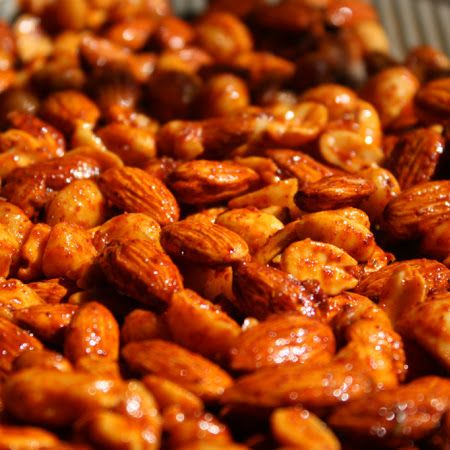 Chili Lime Roasted Nuts- These are sooooo addictive!!