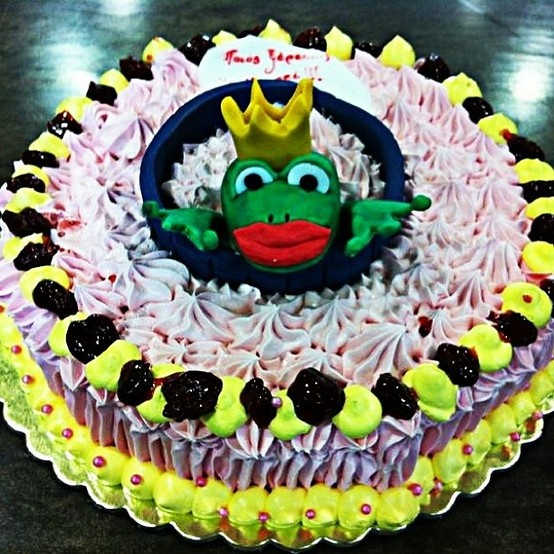 Kiss the frog! Princess Cake!