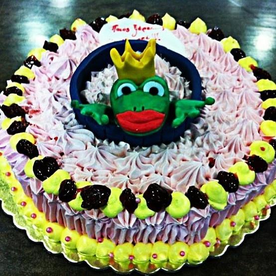 Kiss the frog! Princess Cake!