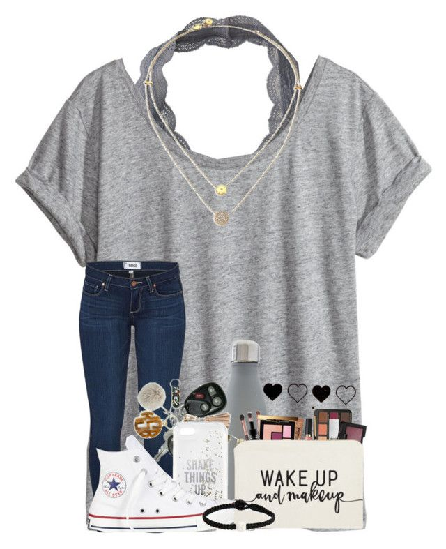"""""""Just stop your crying it's the sign of the times"""" by cassieq6929 ❤ liked on Polyvore featuring Aéropostale, H&M, Michael Kors, Paige Denim, S'well, Kate Spade, Converse and Lokai"""