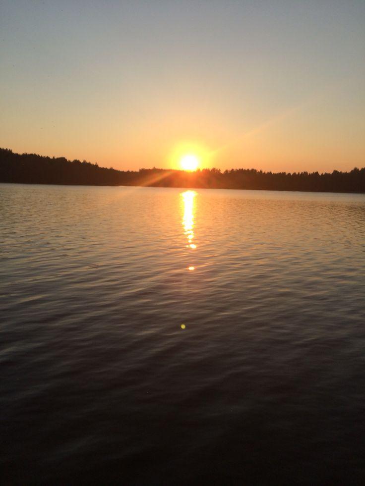 Sunset Iso-Ruhmas Jaala Finland