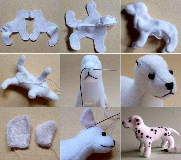 Картинки по запросу игрушка собака из ткани своими руками