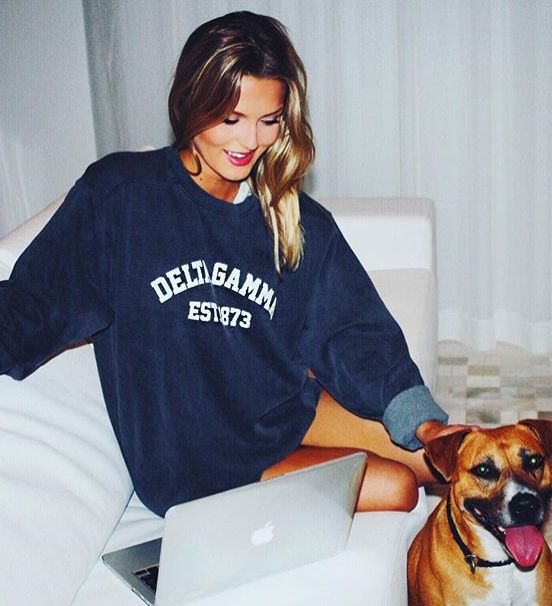 Cozy up with our softest sweatshirt! Exclusively for Delta Gamma