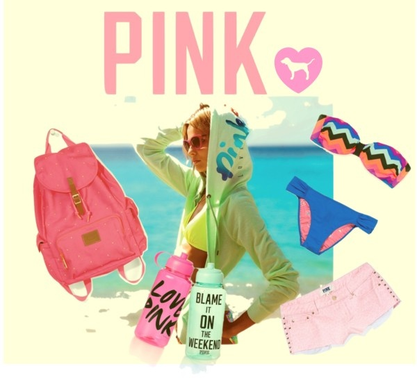 """""""Fun, sun, and Pink."""" by funderburkk on Polyvore"""