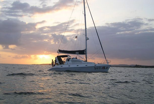 The spirit of elan catamaran
