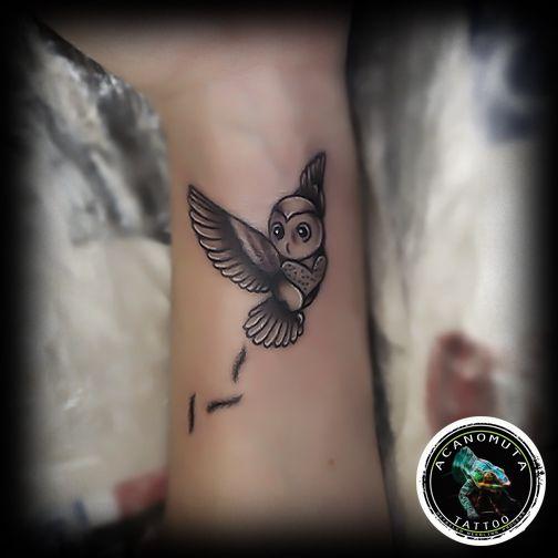 Διακριτικο τατουαζ με κουκουβαγια οχι μονο για ανδρες αλλα και για γυναικες..