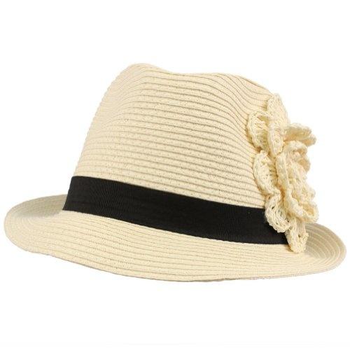 Summer Spring Flower Hatband Crushable Fedora Trilby Sun Hat Cap Ivory 57cm: Spring Flower, Hatband Crushable, Womens Fedoras, Crushable Fedora, Flower Hatband, Sun Hats