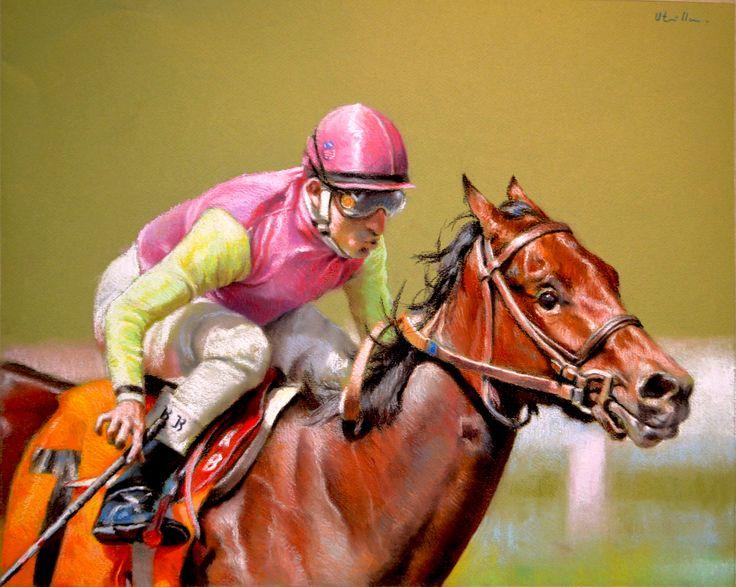 Jockey - Pastel 72 x 52 cm