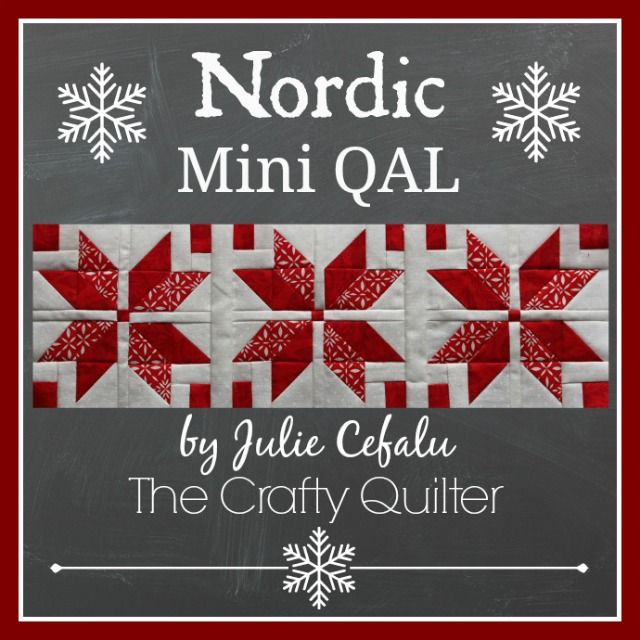 The Crafty Quilter   Nordic Mini Quilt Along, Row 1